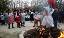 "В СОК ""Камчия"" изгориха чучелото на зимата"