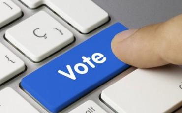 Vote keyboard key Finger