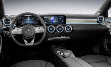 Част от интериора на новата А-класа на Mercedes-Benz правен в България