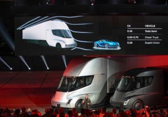 Tesla представи електрическия си камион Semi truck