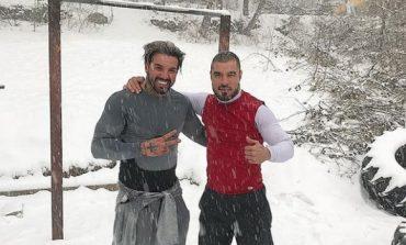 Благо Георгиев тренира в снега с ММА боец