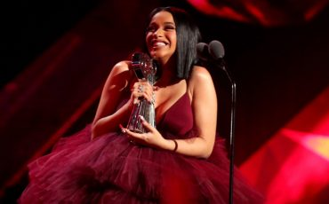 INGLEWOOD, CA - MARCH 11:  Cardi B accepts Best New Artist onstage during the 2018 iHeartRadio Music Awards which broadcasted live on TBS, TNT, and truTV at The Forum on March 11, 2018 in Inglewood, California.  (Photo by Christopher Polk/Getty Images for iHeartMedia)