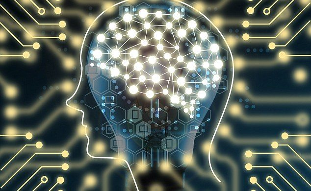 Machine learning and artificial intelligence concept. Brain connection learning on light bulb and Electric circuits graphic; Shutterstock ID 500228107; Purchase Order: -