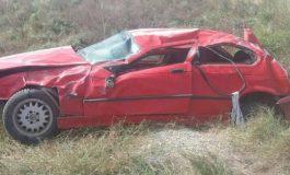 Тежка катастрофа на разклона Девня-Разделна! Вижте какво остана от това червено БМВ (СНИМКИ)