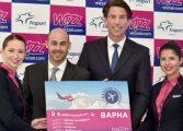 Wizz Air добавя 6 нови маршрута от Варна