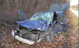 Пенсионер в болница след удар с кола в дърво