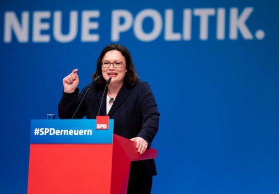 Андреа Налес подаде оставка като лидер на германската СДП