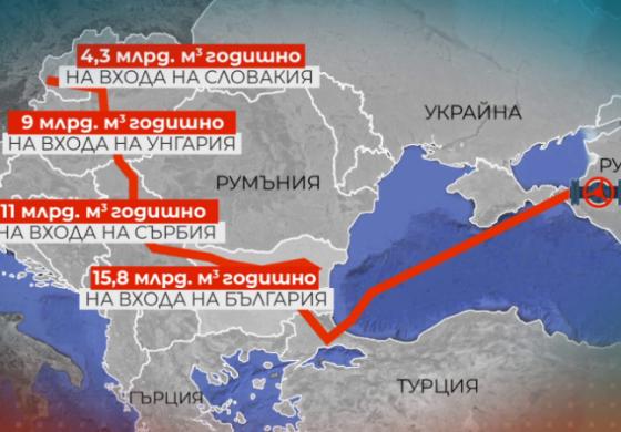 """Москва: """"Турски поток"""" ще мине през България, а не през Гърция"""
