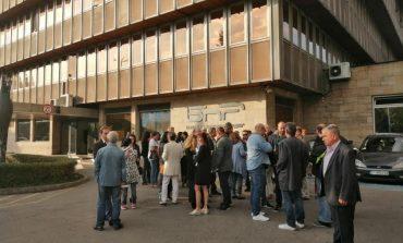 Журналисти от БНР на протест в подкрепа на директора Светослав Костов