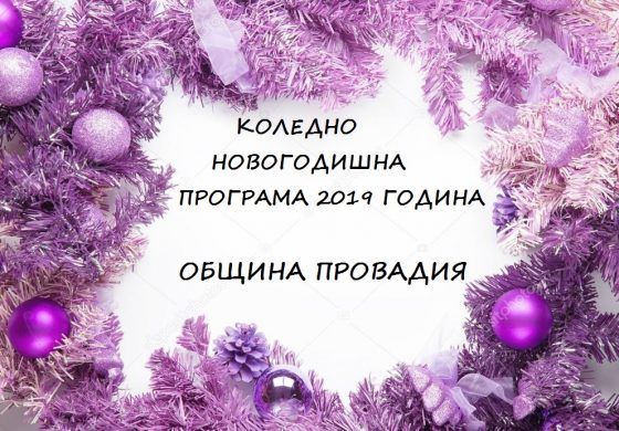Коледно новогодишна програма 2019 на Община Провадия