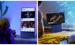 Samsung показа телевизор, чийто екран се върти като на смартфон