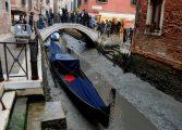 Суша! Каналите във Венеция останаха без вода