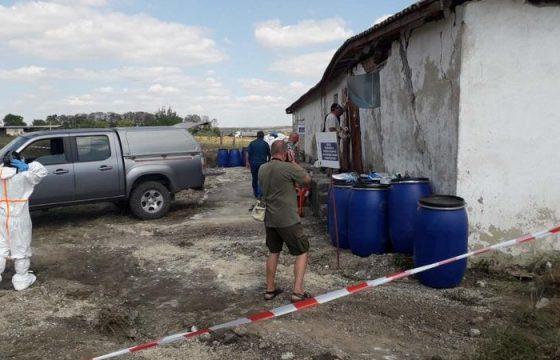 Унищожават 32 т опасни пестициди край село Неофит Рилски