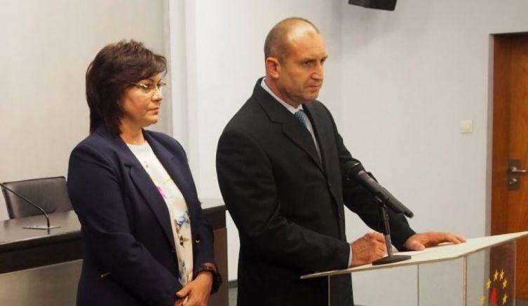 Нинова не гарантира червена подкрепа за Радев на изборите, праща го на кастинг