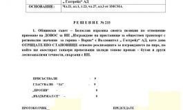 Общинските съветници в Белослав единодушни срещу изграждането на пристанище в центъра на града от ГАЗТРЕЙД АД